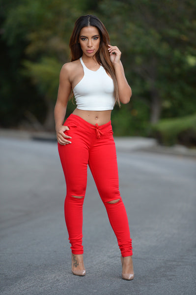 Cadet Pants - Red