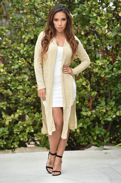 Look Both Ways Cardigan - Taupe