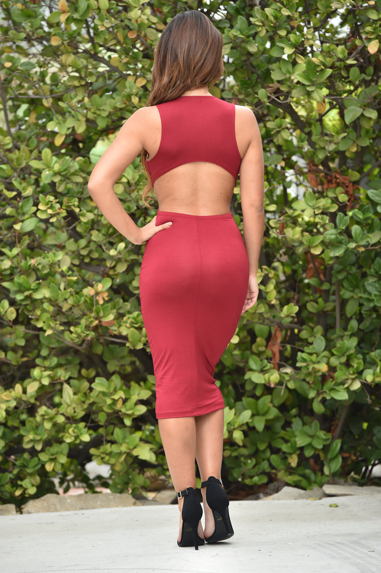 Isabel Dress - Burgundy