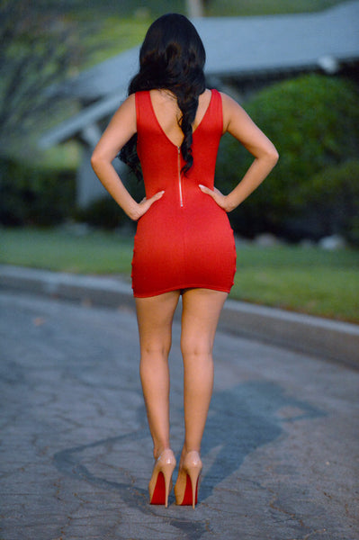 Loaded Dress - Red