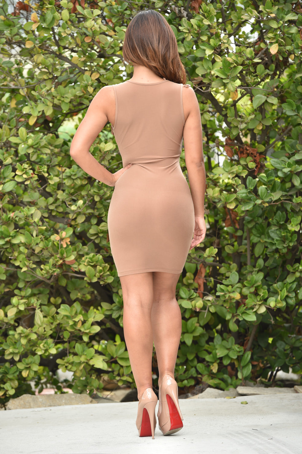 On the Brink Dress - Camel