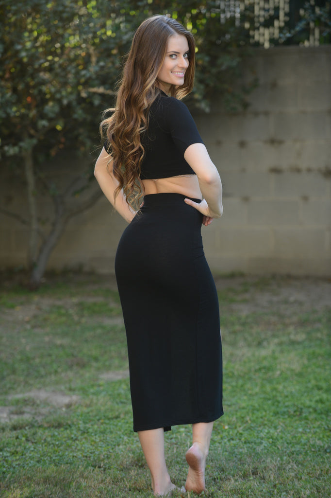 Shelby Crop Top - Black