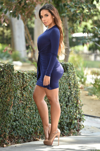 In Cahoots Dress - Navy