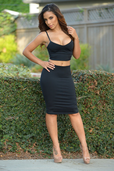 Smooth Down Skirt - Black