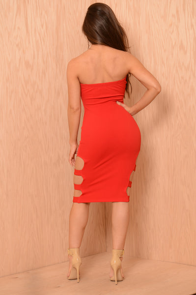 In Shackles Dress - Red