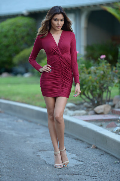 Haley Dress - Burgundy