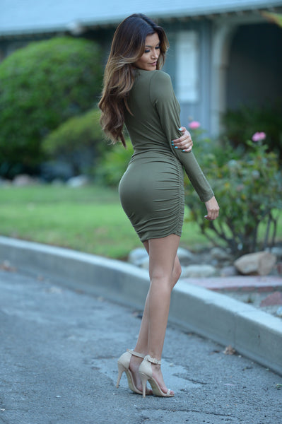 Haley Dress - Olive