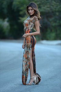 Far Out Dress - Rust