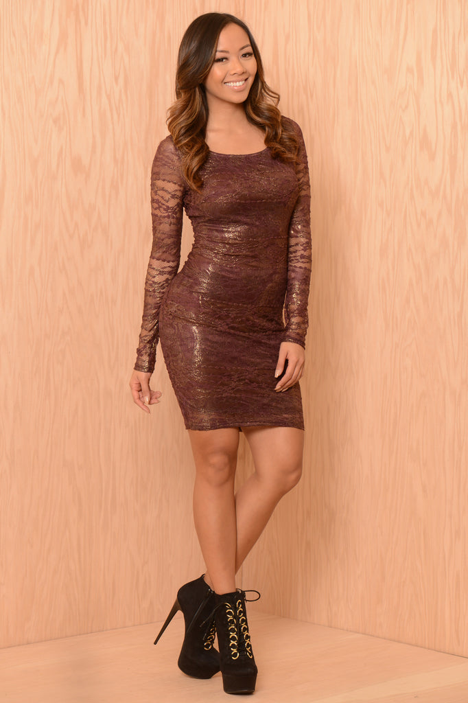 Enchanted Dress - Burgundy