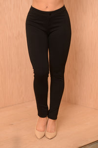 High Waisted Pants - Black