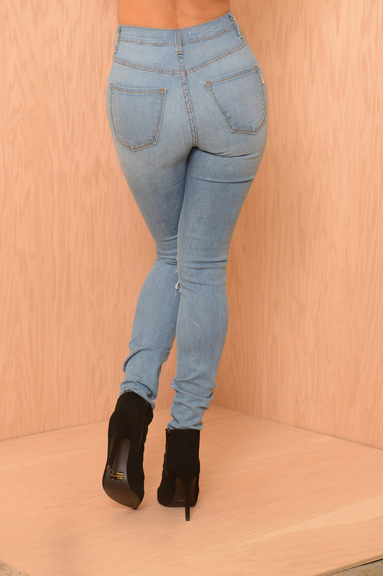 Need the Knee Jean - Blue Wash