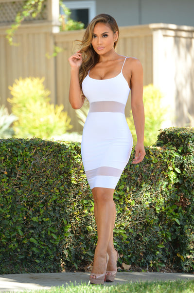 Headliner Dress - White