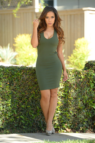 Lennox Dress - Olive