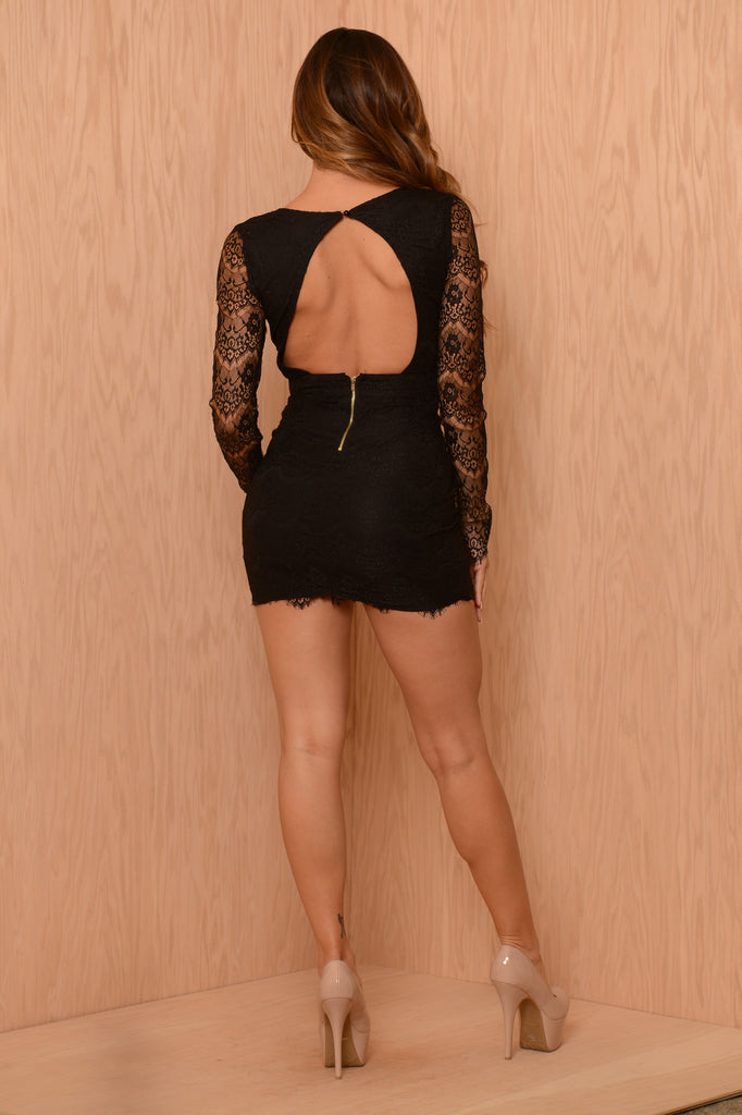 Lacey Luck Dress - Black