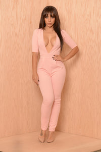 Whitney Jumpsuit - Rose