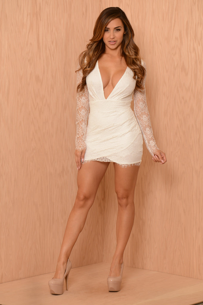 Lacey Luck Dress - White