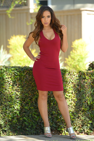 Lennox Dress - Burgundy