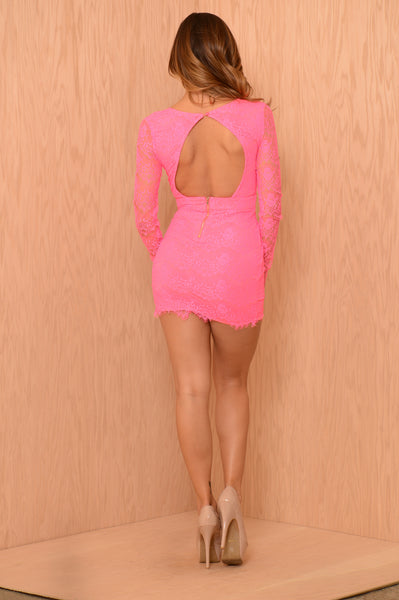 Lacey Luck Dress- Pink