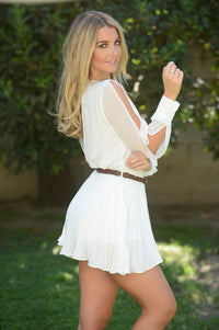 Never Growing Up Romper - Ivory Angle 4