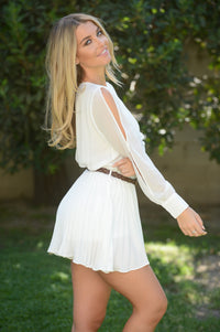 Never Growing Up Romper - Ivory