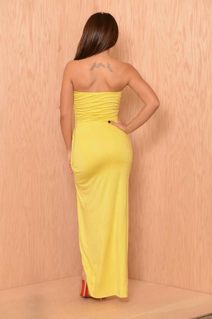 Deity Dress - Lemon