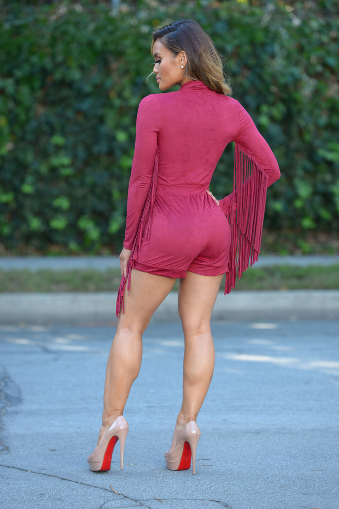 Save a Horse Romper - Burgundy