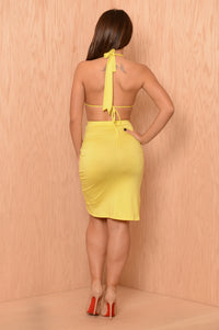 Lydia Dress - Lemon