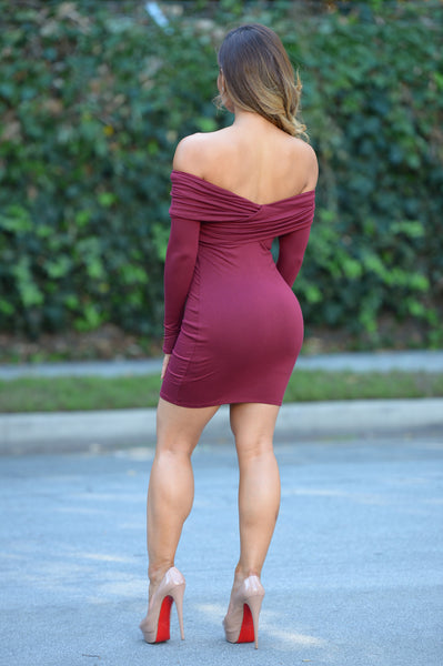 Izzie Dress - Wine