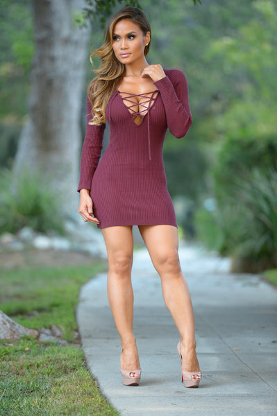 Valencia Dress - Burgundy