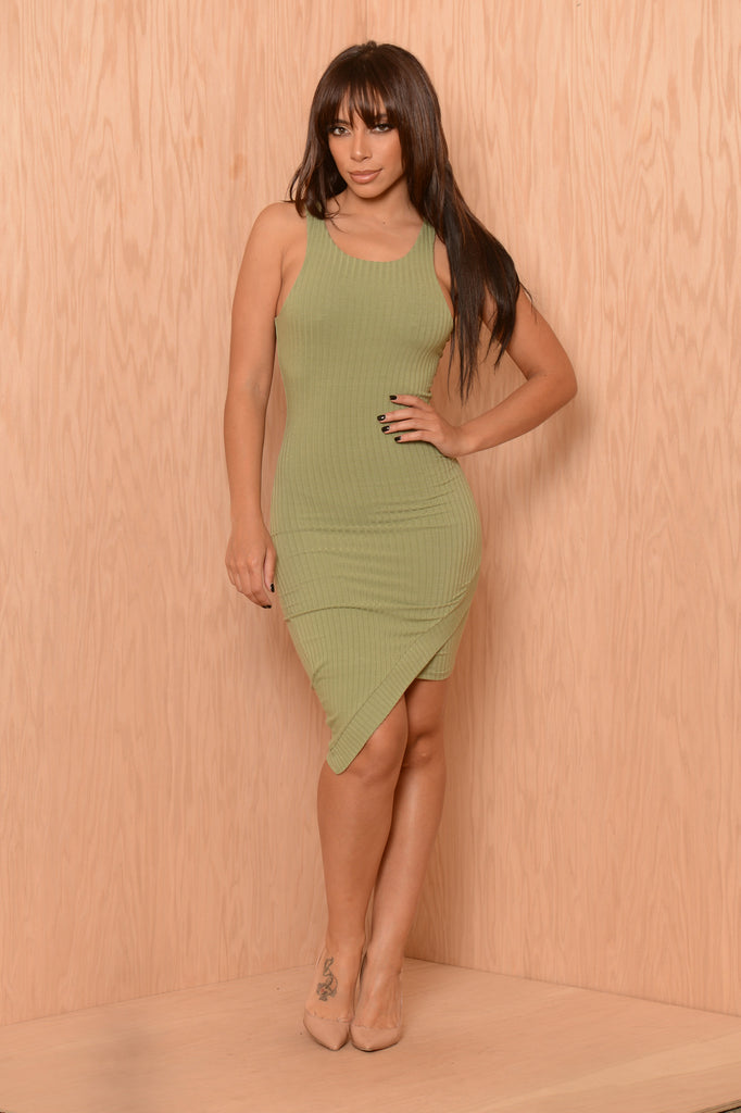 Rumors Dress - Olive