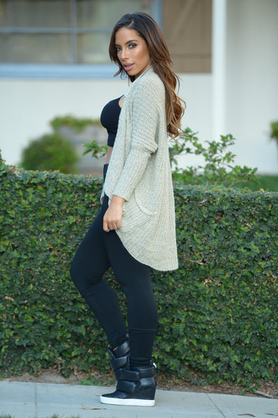 Cuddle Sweater - Taupe