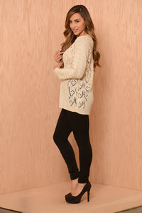 April Showers Sweater - Beige