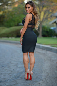 Luxe Pencil Skirt - Black Angle 5