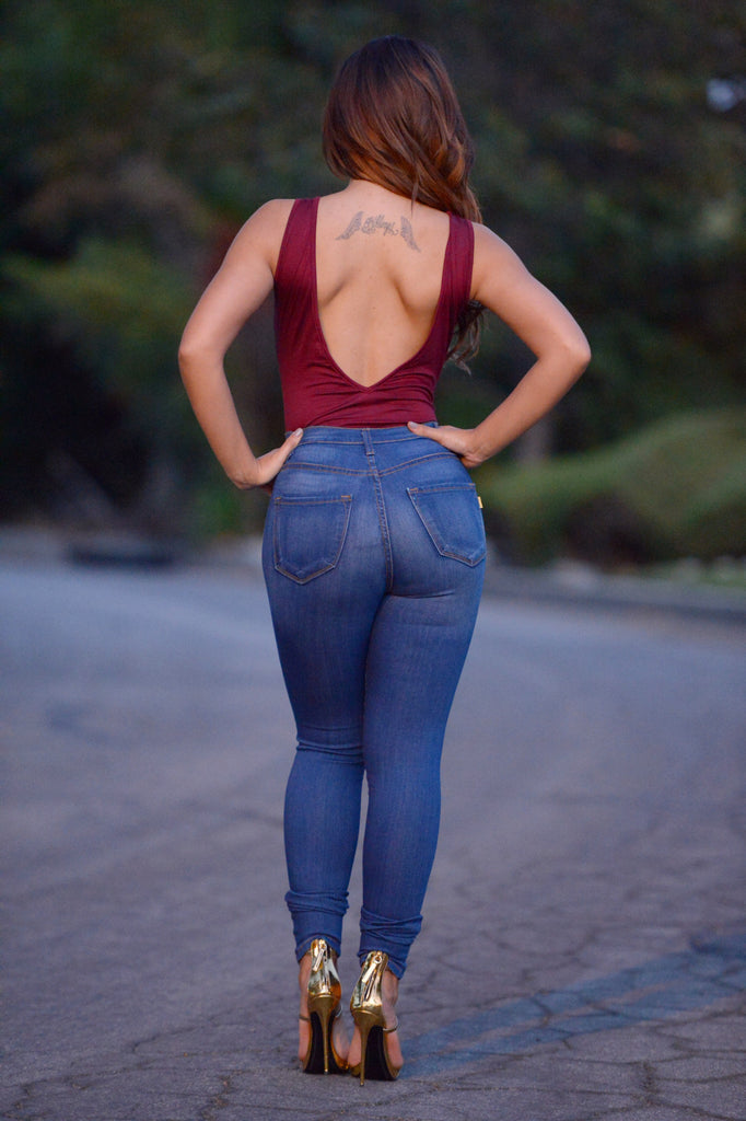 Charmed Bodysuit - Burgundy