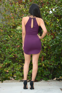 Valley Girl Dress - Eggplant