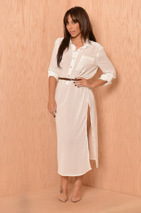 Sophisticated Fun Tunic - White Angle 1
