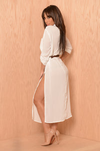 Sophisticated Fun Tunic - White Angle 3