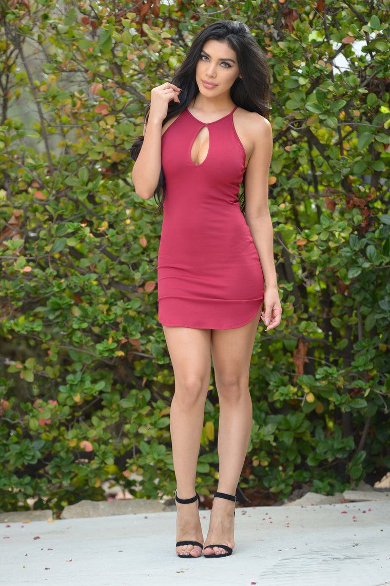 Valley Girl Dress - Wine