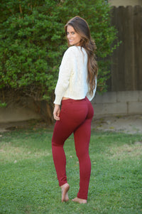 Essential Pants - Burgundy Angle 6