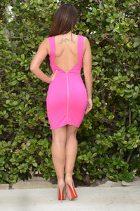 Zip Me Up Dress - Hot Pink