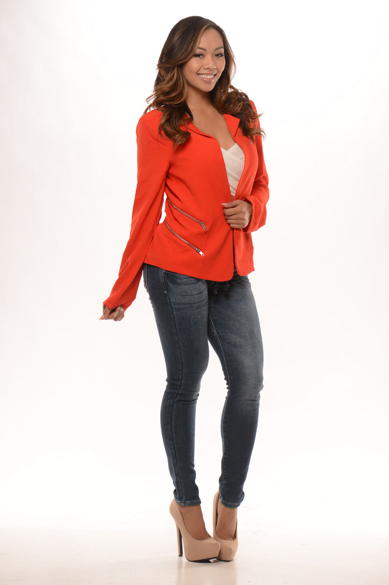 Double My Zippers Jacket - Red
