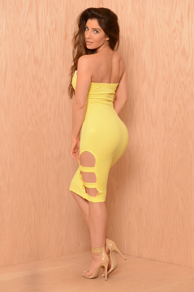 In Shackles Dress - Yellow