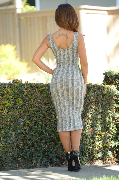 Foreshadowing Dress- Heather Grey