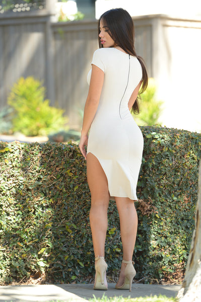 Center of Attention Dress - Ivory