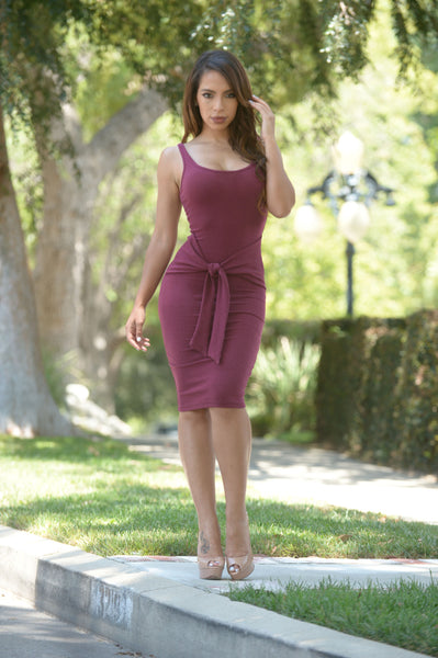 Dulce Dress - Burgundy