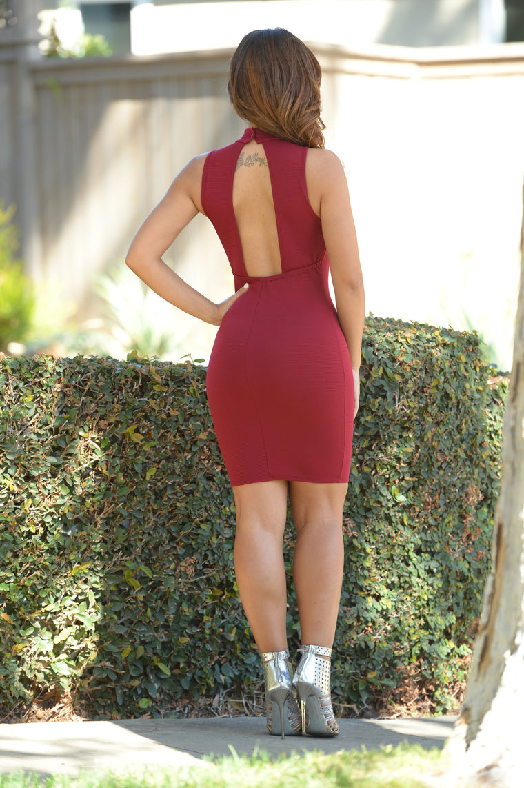 Gianna Dress - Burgundy