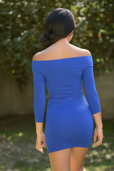 All Curves Mini Dress - Royal