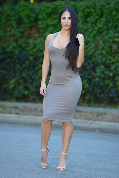 Back to Back Dress - Mocha