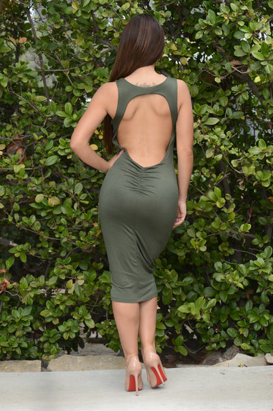 Standing Ovation Dress - Olive