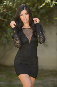 Under the Mistletoe Dress - Black